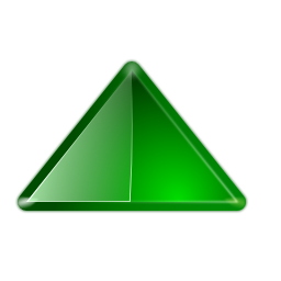 icon arrow up green
